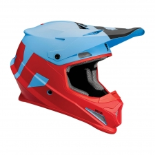 Thor Helm Sector Level, blau/rot matt