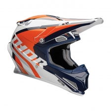 Thor Helm Sector Ricochet, blau/orange glanz, S