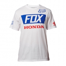 Fox T-Shirt 2018 HONDA BASIC STANDARD, weiss, XL