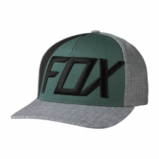 Fox Cap 2018 BLOCKED OUT Flexfit, meliert-grau, S/M