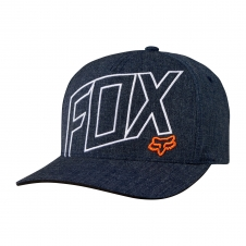 Fox Cap 2018 THREE 60 Flexfit, meliert-dunkelblau, S/M