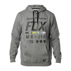 Fox Hoody 2018 DISTRICT 2, meliert-grau
