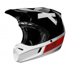 Fox Helm 2018 V3 Preest A1 Limited, schwarz-rot