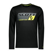 Scott Shirt DRI Factory Team langarm, schwarz/sulfur gelb