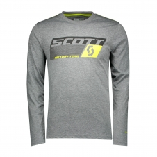 Scott Shirt DRI Factory Team langarm, dunkelgrau/gelb