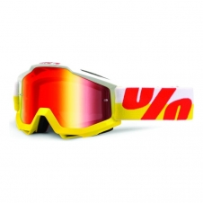 Goggle 100% Accuri IN OUT gelb/rot, rot verspiegelt