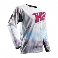 Thor Jersey 2017 Fuse Air weiss/rot