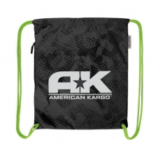 American Kargo Turnbeutel Cinch Bag, schwarz
