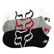 Fox Socken Core No Show, 3er Pack, gemischt