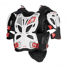 Alpinestars A10 Full Brustpanzer weiss/rot