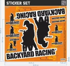 Backyard Racing Stickerset