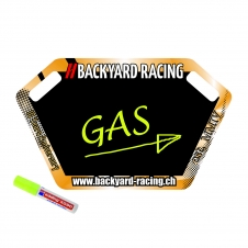 Backyard Racing Pitboard Custom, inkl. Stift