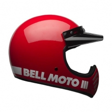 Bell Helm Moto-3, Classic, rot