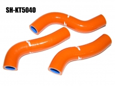 Silikon-Kühlerschlauch Kit KTM SXF250 / EXCF250 orange