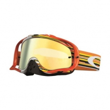 Oakley Goggle Crowbar Glitch orange/weiss/gelb