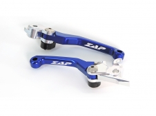 ZAP Competition Flex Hebel Set für KXF250 13-, KXF450 13-18, blau